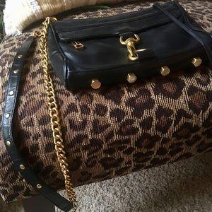 Rebecca Minkoff  Black / gold cross body purse